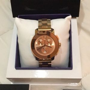 Women's Rose Gold Movado chronograph Bold watch